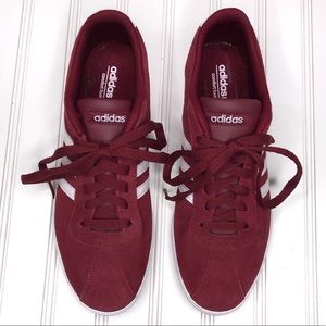 adidas Shoes - Adidas Courtset Sneakers Burgundy 3 Stripe Sz 9.5